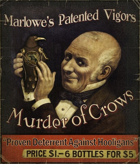 cultofbioshock:  Marlowe's Patented Vigors!  Murder of Crows!