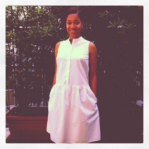 Todays's Love: Ladylike Cos cotton white dress. #tumblr #summer #women's #ladies #white #dress #iphone #instalove #bestphotooftheday  (Taken with instagram)
