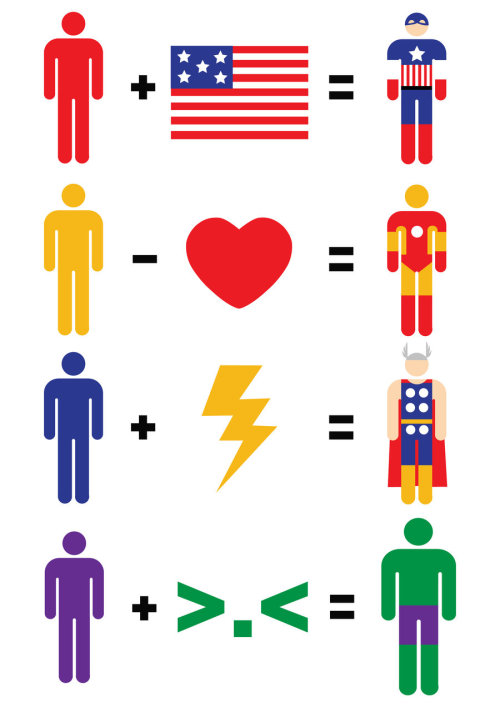 francojtorres:  Superhero Math Adds Up Pop Culture Heroes and Villains (by Mattcantdraw)