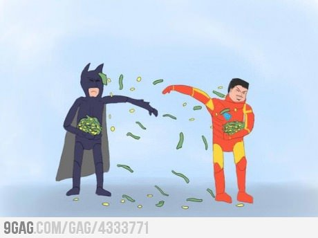 9gag:  Iron Man vs Batman