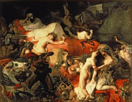 The Death of Sardanapalus by Eugene Delacroix, 1827