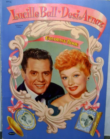 browsethestacks:  Vintage Coloring Book - Lucille Ball Desi Arnaz Coloring Book