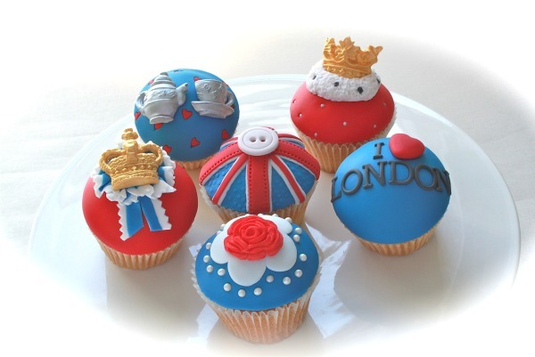 Yummy scrummy jubilee cupcakes sold at Arch House Deli in Bristol and made by Layla Pegado Cakes are a work of art.  Photo Credit: Bristol Bites