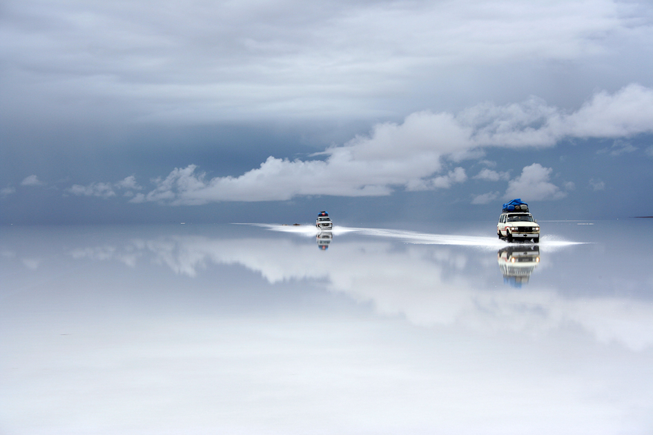 landyscape:  Bolivia salt desert after the rain by  Guy Nesher