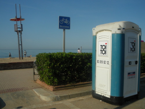 Portaloo - Beach outside Barcelona.