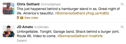 Sounds like last night went well for #BonnarooGethard!