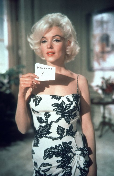 "Marilyn at the hair and make-up test for ""Something's Got to Give""."