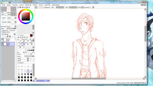 really really REALLY messy WIP. OC: Alek… @_@ erm..