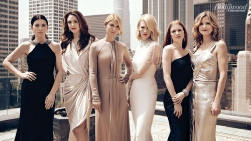 Julianna Margulies, Emmy Rossum, Claire Danes, January Jones, Mireille Enos et Kyra Sedgwick - THR's Emmy Drama Actress Roundtable