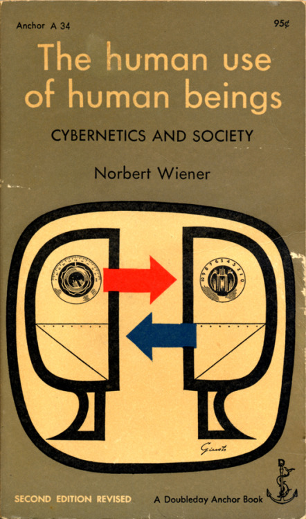 The Human Use Of Human Beings: Cybernetics and Society by Norbert Wiener Doubleday Anchor, 1954