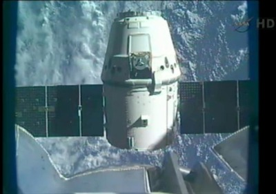 Elon Musk must be very happy now: thisistheverge:  Watch this: SpaceX Dragon splashdown expected at 11:44AM ET SpaceX's journey into orbit hasn't been the smoothest ride, but last week the Falcon 9 rocket finally blasted off, and a few days later the Dragon capsule successfully docked with the International Space Station. Now it's time for the Dragon to come back home, and of course it's all going to be broadcast live.