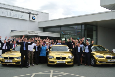 GoldenBMW at Work yesterday- Williams Bolton BMW… Look out for them today in Liverpool!