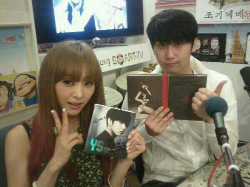 pristi94yotriplekiss:  G.NA and Young Saeng on SBS Cut Two Show Radio (crd: @hl2412)  they are all my bias :)