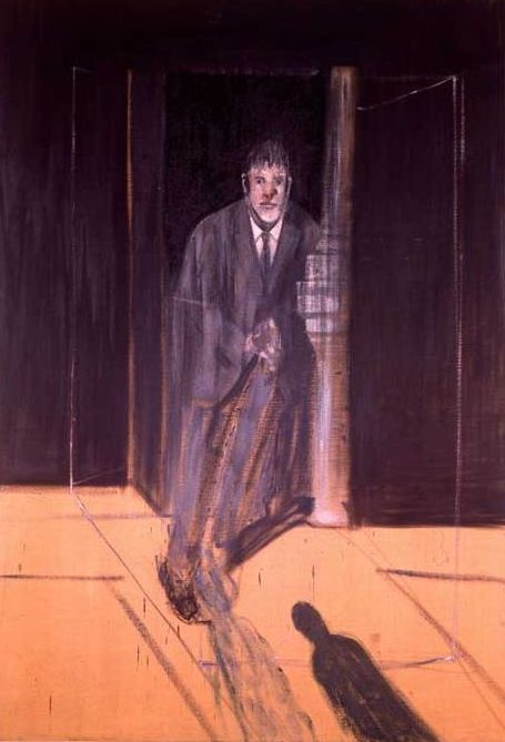 artistandstudio:  Francis Bacon,  Portrait of Lucian Freud, 1951