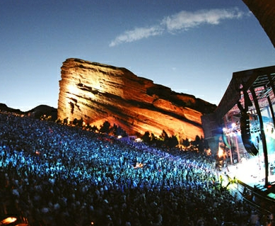 Bon Iver + Feist play the Red Rocks Amphitheatre tonight: http://bit.ly/LKrj6Z Amazing location for a show, any other special venues on par with this?
