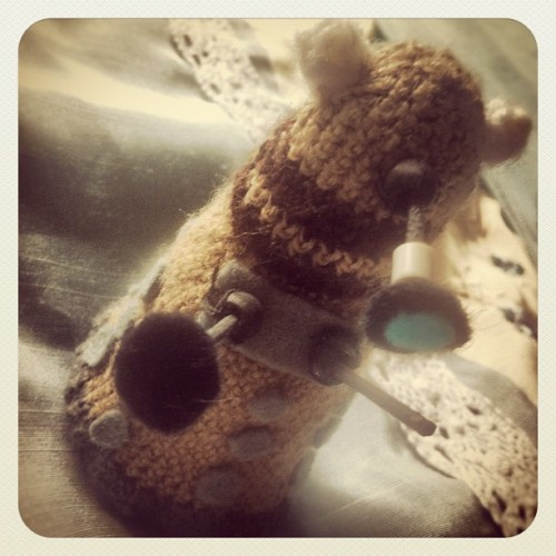 amyzlt92:  Dalek Crochet by my friend Charlotte :3 #doctorwho #dalek #chochet #cute #pretty #clever #nerd #geek #nerdy #geeky #instawesome #instagreat #picoftheday #photooftheday #instagramhub #ifollowback #followers #followforfollow #likeforlike (Taken with instagram)