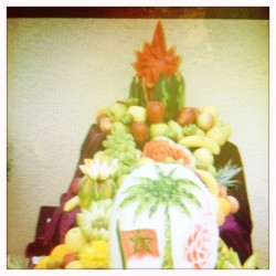 Morocco fruit decoration  (Tomada con instagram)