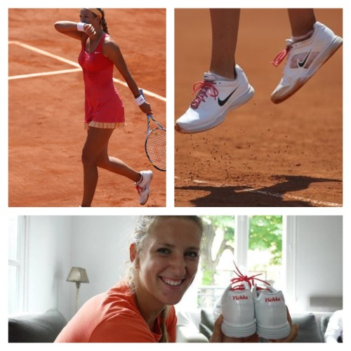 Nike have definitely got it right with Vika's Roland Garros outfit! this kit is HOT! kinda miss the shorts though! those legs: wow!