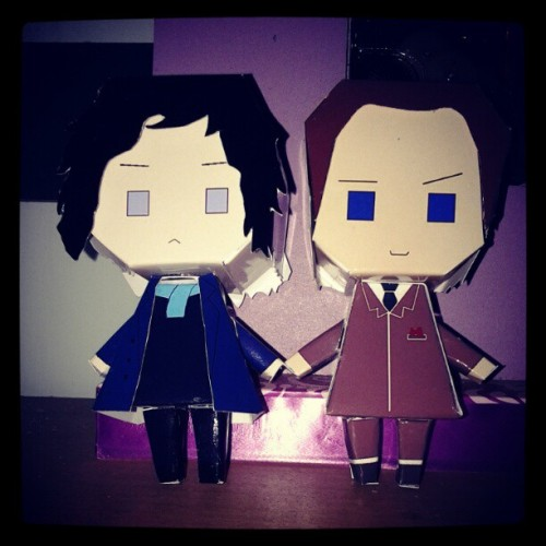 Sherlock and his big brother (Taken with instagram)