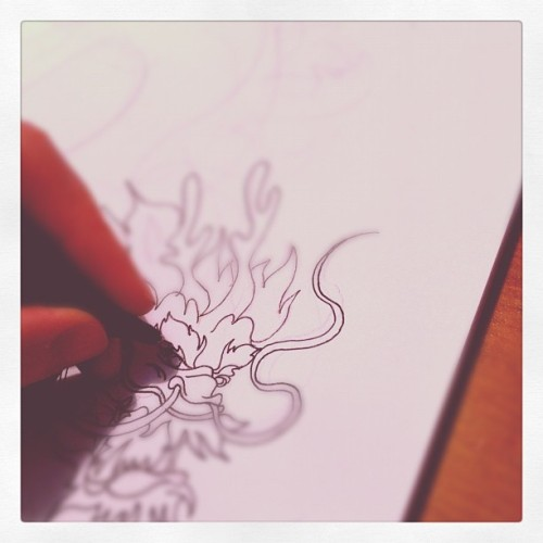Getting my drawing on!!  (Taken with instagram)