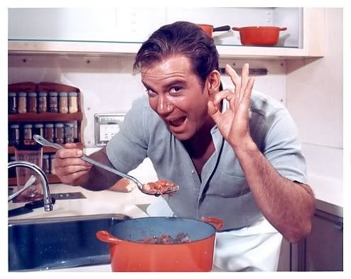 Don't scald your mouth on that stew, Shatner. Save the burning for the experts.  The classic Roast of William Shatner airs this Thursday at 9:30/8:30c on Comedy Central.