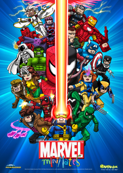 agentmlovestacos:  1. I love this Minimates poster.  2. The fan polls we're running on Marvel.com are awesome and I'm excited to see you guys pick the actual toys that will be made. 3. Vote for Luke Cage. via marvelentertainment:  We're currently running some polls on Marvel.com in which fans can vote for characters to be turned into Marvel Minimates from Diamond Select Toys. Go on and vote; more polls will be added in the coming weeks.