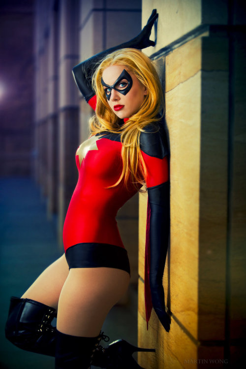 dangergirlz:  Moonstone as Ms. Marvel by *crystalcosfx Another impressive Ms Marvel!