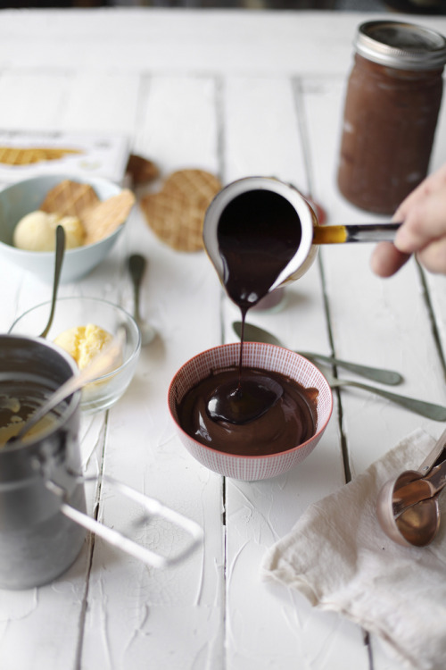 gastrogirl:  darkest chocolate ice cream with chocolate sauce.