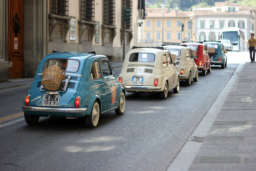 Cinquecento outing love the wine carrier on the last one