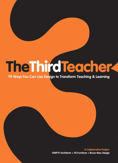 The Third Teacher: 79 Ways You Can Use Design to Transform Teaching & Learning (Architecture) Author: Inc. OWP/P Cannon Design, VS Furniture, Bruce Mau Design Book Description: Created by an international team of architects and designers concerned about our failing education system, The Third Teacher explores the critical link between the school environment and how children learn, and offers 79 practical design ideas, both great and small, to guide reader's efforts to improve our schools. Written for anyone who has school-age children in their life, from educators and education decision-makers to parents and community activists, this book is intended to ignite a blaze of discussion and initiative about environment as an essential element of learning. Including a wealth of interviews, facts, statistics, and stories from experts in a wide range of fields, this book is a how-to guide to be used to connect with the many organizations, individuals, and ideas dedicated to innovating and improving teaching and learning. Contributors include children's singer and advocate Raffi, author and creativity consultant Sir Ken Robinson, scientist and environmentalist David Suzuki, inventor James Dyson, and other experts who are working to create fresh solutions to problems and create a new blueprint for the future of education. Available on Amazon.com via: BookStairsFacebook // Twitter // Google+ // Pinterest