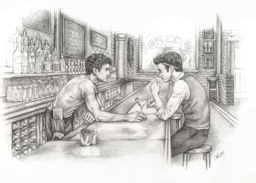 pencilpushingenthusiast:  Kurt/Blaine Reversebang 2012 (Tumblr/LJ) - Day 1 :) Fic:  Not The Boy Next Door Author: wordplay (Tumblr/LJ) Rating: R Word Count: 10,500 Summary: Blaine Anderson is a struggling musician with a new job. This is the story of everything he finds there. Artist's Notes: Illustrating this brilliant, little story was an absolute joy! I had the honor of working in tandem with the ever-incredible wordplay on this project and was beyond blessed to be on the receiving end of her absolute genius direction. So, thank you, Lovely, for allowing me to play in your sandbox for a little while; it's an experience I would echo again in a heartbeat. ♥