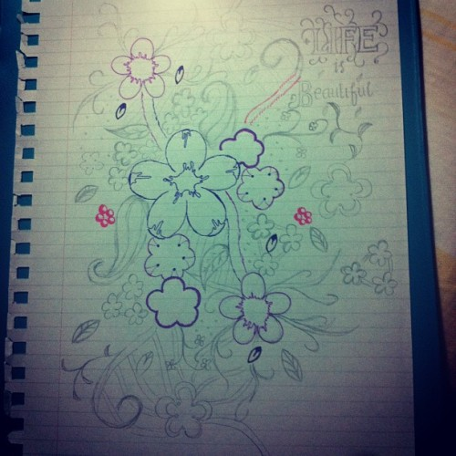 I'll just continue this tomorrow. Goodnight!  #random #drawing #doodle #flower #life #beautiful #goodnight (Taken with instagram)