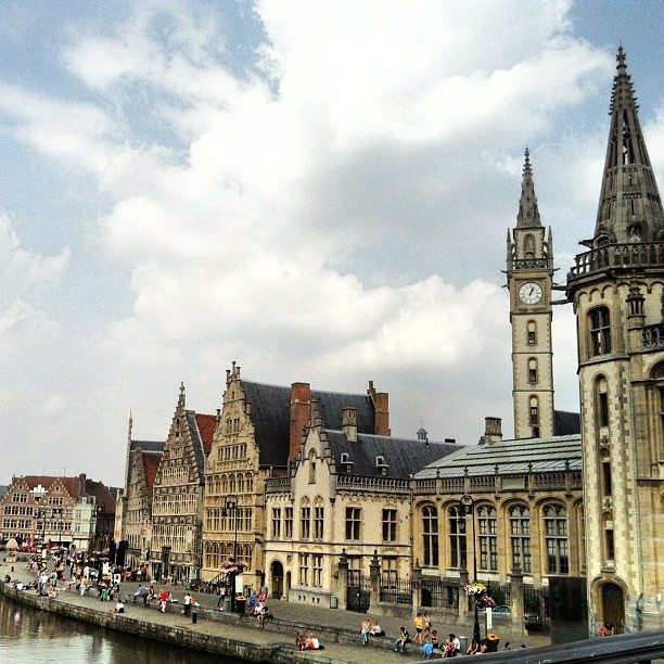 Gent looking all pretty and such #gent #belgium #travel  (Taken with instagram)