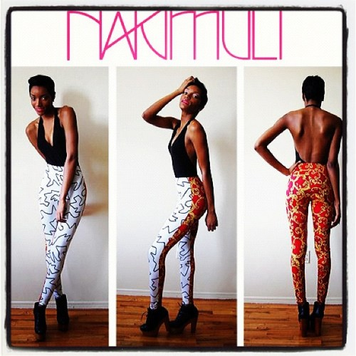 One of a kind White Squigg Leggings. Size S. www.nakimuli.com (Taken with instagram)
