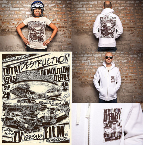 Demolition Derby on Flickr. Up for sale at Threadless: http://thrdl.es/p/3816