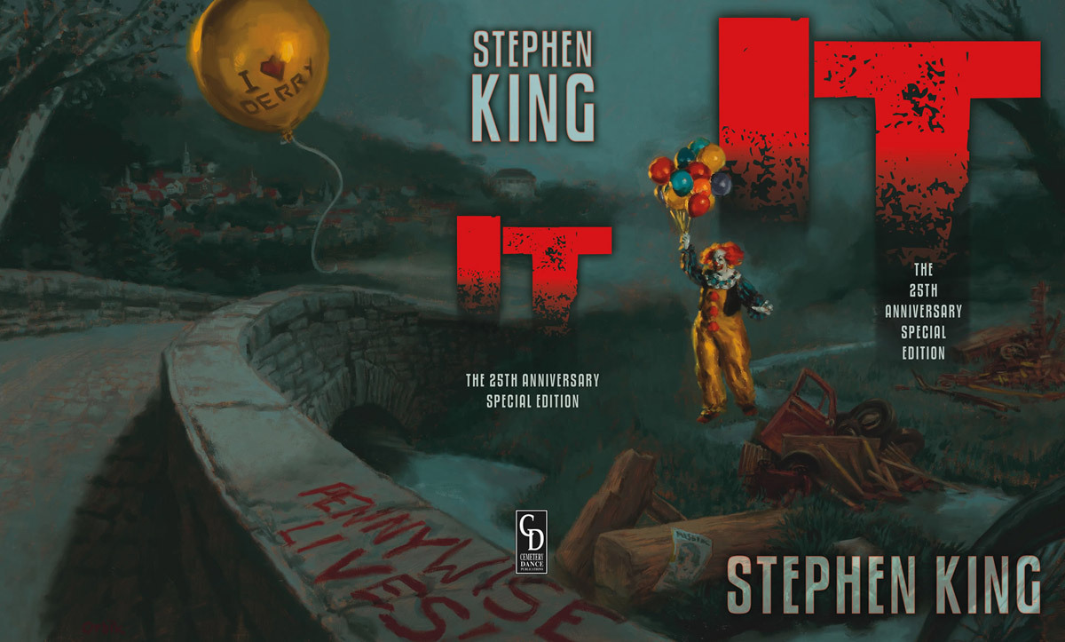 Arte de la edición 25 aniversario de IT de Stephen King
