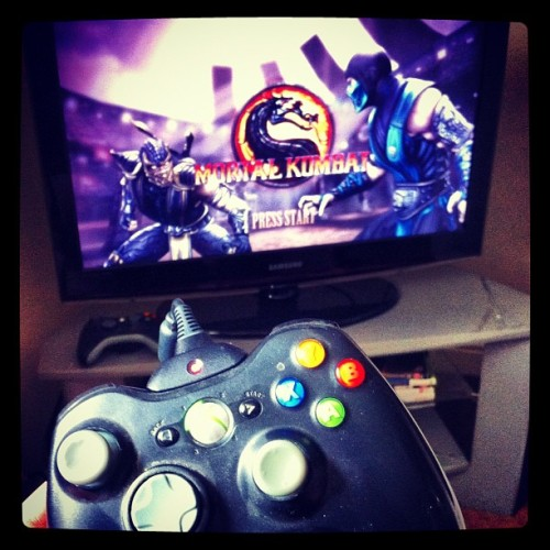 You have no idea how angry I got with this game.. #xbox #game #mortalkombat #nerd #awesome #gamer #girl (Taken with instagram)