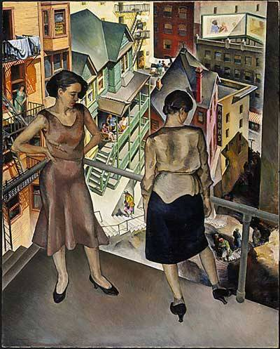 lacma:  Millard Sheets, Angel's Flight, 1931, gift of Mrs. L. M. Maitland, © Millard Sheets Estate  Awesome LA painting.