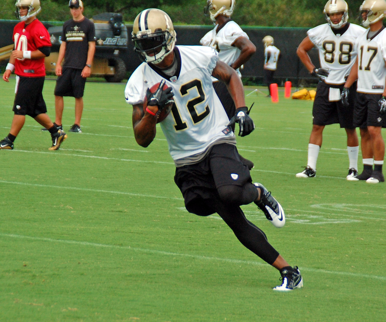 neworleanssaints:  WR Marques Colston at practice today!