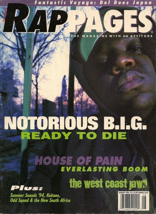 upnorthtrips:  Notorious B.I.G. - Rap Pages - August, 1994
