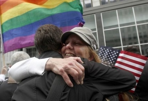 "thedailywhat:  Breaking DOMA News of the Day: In a victory for gay marriage advocates that rivals the enormity of Proposition 8 in California, the First Circuit U.S. Court of Appeals in Boston today upheld a lower court's ruling and declared the federal Defense of Marriage Act unconsitutional. From the court's opinion:  ""[M]any Americans believe that marriage is the union of a man and a woman, and most Americans live in states where that is the law today. One virtue of federalism is that it permits this diversity of governance based on local choice, but this applies as well to the states that have chosen to legalize same-sex marriage. Under current Supreme Court authority, Congress' denial of federal benefits to same-sex couples lawfully married in Massachusetts has not been adequately supported by any permissible federal interest.""  Expect the ruling to be appealed to the U.S. Supreme Court. [politico]"