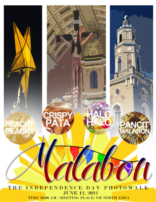 Malabon Independence day Photowalk at June 12, 2012 (Call time and meet-up at SM North Edsa - Skygarden (Starbucks) at 10:00 AM.) What to expect: An educational photowalk injected with historical lectures, street photography tips and discussions from invited resource guests and speakers, free lecture handouts, Filipino cuisine food trip, freebies and a whole lot more! Limited slots only! Official Faceook RSVP page is here. On the other hand, the Facebook group can be found here. Make sure you confirm your attendance there, if you are going. For inquiries, suggestions and recommendations, feel free to send Roi a message at (http://thediaryofayoungman.tumblr.com/ask) or (http://twitter.com/roiserrano11).