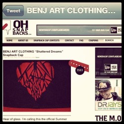 Featured | oh snapbacks.com #benjartclothing  #snapbacks  (Taken with instagram)