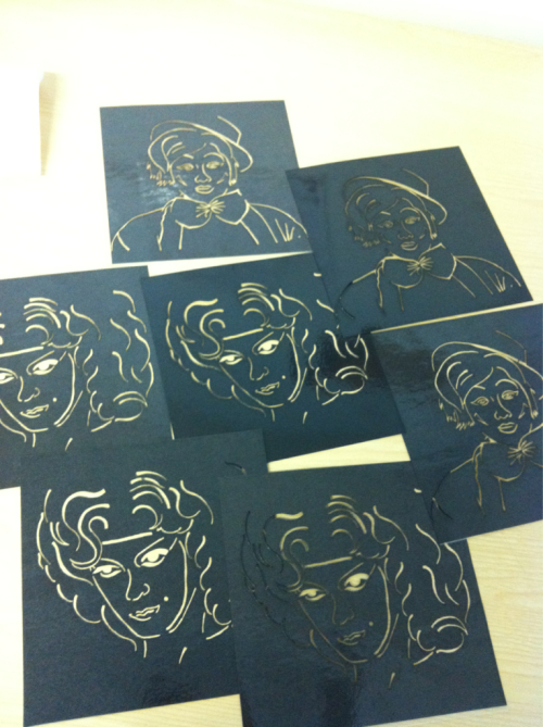 megameanie-design:  Images lazer-cut for stencil inserts in zine :) halfway 2 or 4 designs complete.