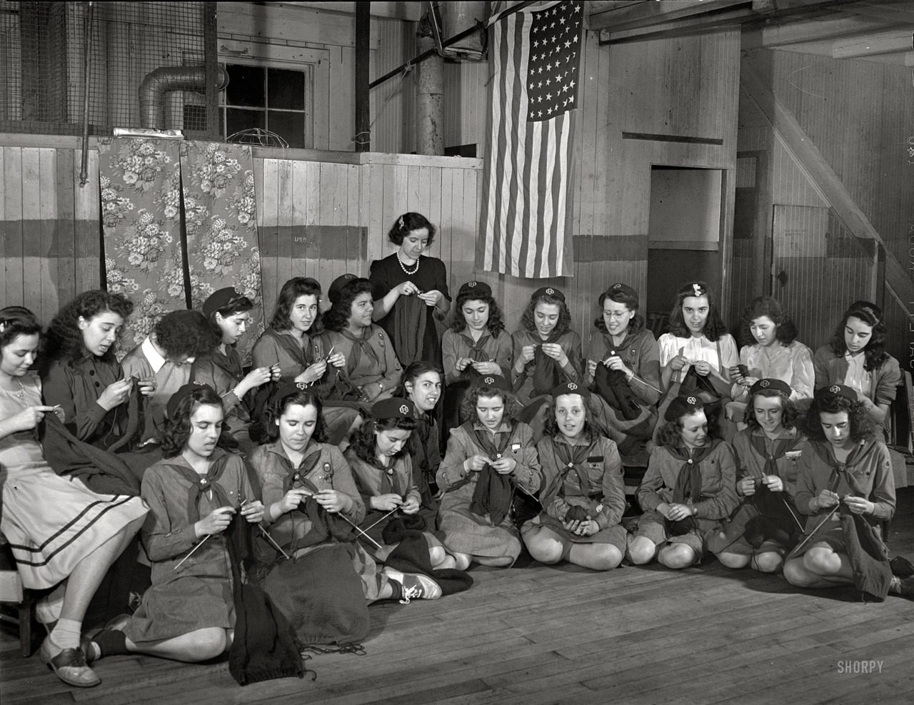 "via Shorpy  Spring 1942. ""New Bedford, Massachusetts. Portuguese Girl Scouts."""