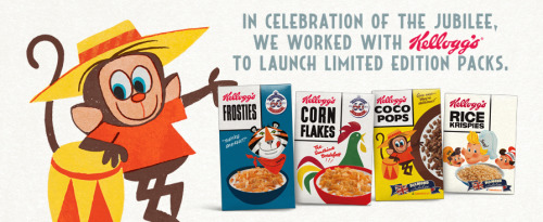 Kellogg's limited edition collectors' boxes in all their retro glory See more Jubilee branded products HERE