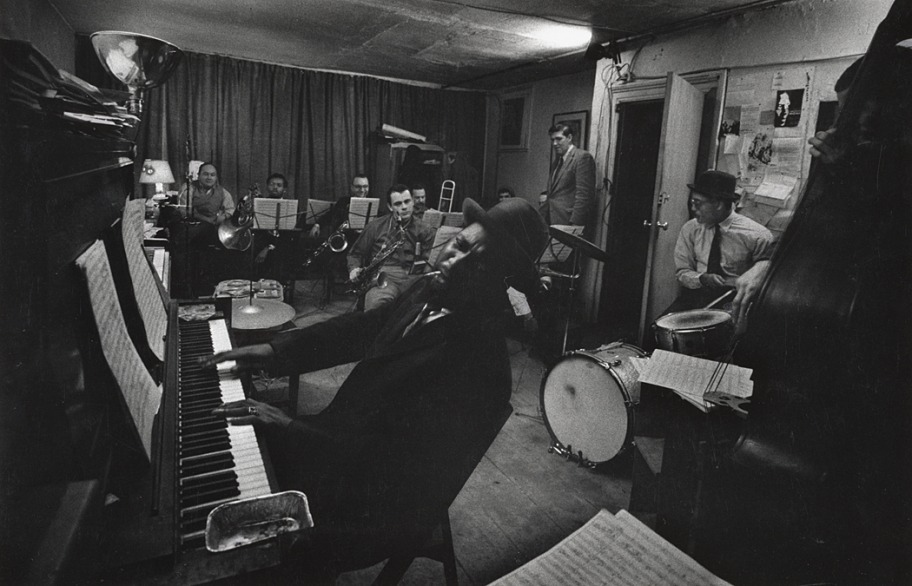 Thelonious Monk and his Town Hall Band, 1959, by W. Eugene Smith. From Smith's recently unearthed, massively important Jazz Loft project. Check out the miraculous story behind these historic photos. Image: © The Heirs of W. Eugene Smith