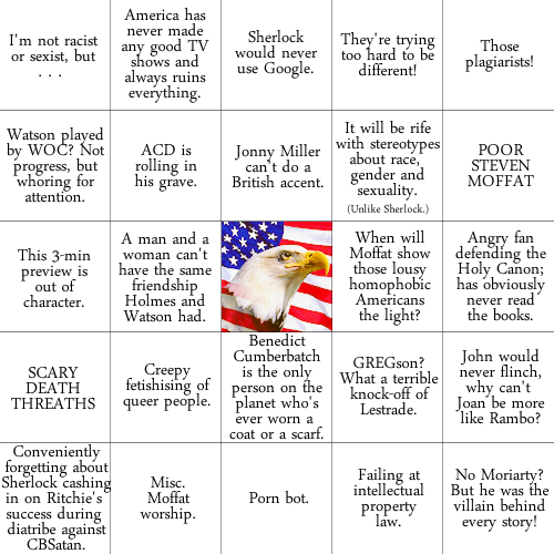 stargates:  someone called for a rant bingo with a FREEDOM SQUARE
