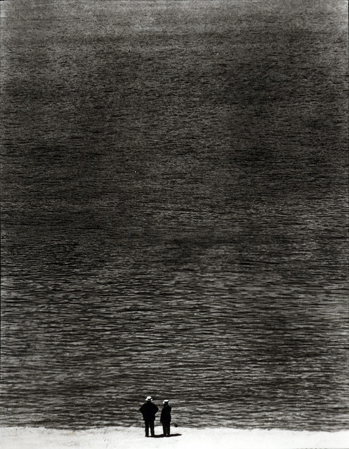 ovadiaandsons:  Ralph Steiner, Two Men and the Ocean. 1921/1980