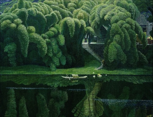 artchipel:  Jian Chongmin | 简崇民 (b.1947, China) [more Jian Chong Min | artist found at theartofanimation]  thats beutiful
